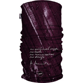 HAD Printed Fleece Tube Scarf abc wine by Reinhold Messner